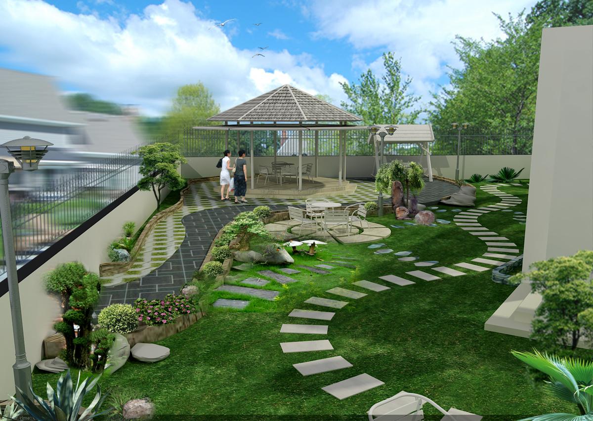 Thiết kê sân vườn đẹp hiện đại