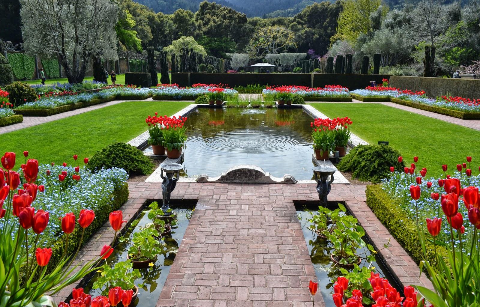 Một góctiểu cảnh sân vườnchâu Âu