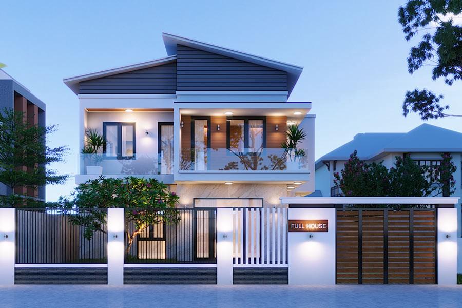 bật mí cho bạn mẫu thiết kế biệt thự vườn 2 tầng