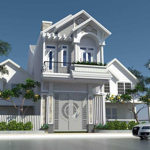 Mẫu thiết kế biết thự 2 tầng đẹp